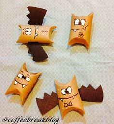 Coffee Break: Manualidad con Rollos de Papel de Baño: Murciélagos para Halloween