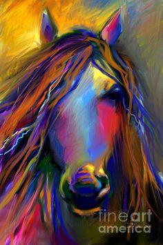 """Mustang Horse Painting"" by Svetlana Novikova"