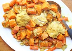 Slow Cooker Sweet Potato and Chicken Curry ~ part of our 20 GF Slow Cooker Freezer Pack Meal Plan for Costco | 5DollarDinners.com