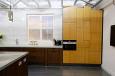 Office kitchen, open plan office interior at Delete Leeds   by Redesign