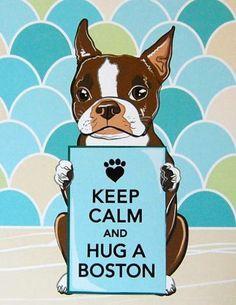 Keep Calm and Hug a Boston