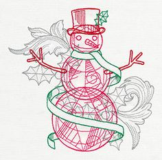 Crystal Christmas - Snowman | Urban Threads: Unique and Awesome Embroidery Designs