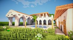 Grapes Mediterranean WineStore vinyard farm modern minecraft building 3