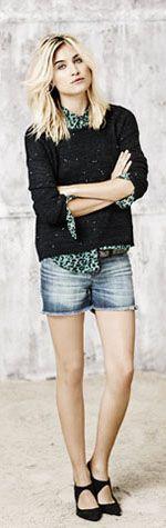 Camisa Valencia, Sweater Gemma Liso, Short Desflecado, Cintur?n Lisboa, Zapato Manhattan