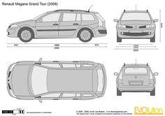 Renault Megane Zoznámenie Grand Tour, Tours, Drawings, Vehicles, Car Stuff, Cars, Sketches, Car, Drawing
