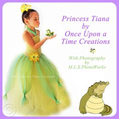 Tiana Inspired Princess Tutu Dress - Birthday Outfit, Halloween Costume - 12M 2T 3T 4T 5T - Disney Princess and the Frog Inspired