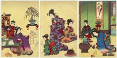 Discover how did the Japanese tea ceremonies looked like in the past... #tea_ceremonies