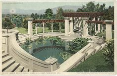 Basin And Pergola, Kimberly Crest Redlands California