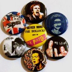 Sex Pistols  Set of 7  1 inch pinback buttons by RaiseYourFist, $4.00