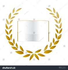 Premium Gold Book illustration design over a white background