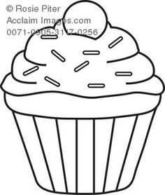 cupcake filing clip art and outlines rh pinterest com cupcake outline clip art free Cupcake with Candle Clip Art