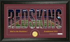 NFL Washington Redskins Silhouette Panoramic Photo Minted Coin 21 x 14 x 3 Bronze * Be sure to check out this awesome product.