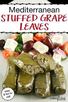 Mediterranean Stuffed Grape Leaves {Dolmas} are one of my all-time favorite foods. When we had them growing up, it was a family affair. Greek Recipes, Whole Food Recipes, Dinner Recipes, Cooking Recipes, Healthy Recipes, Lunch Recipes, Holiday Recipes, Healthy Food, Recipe For 8