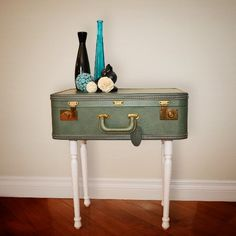 A vintage yet modern take on an end table. Perfect for a home that has an eclectic taste.