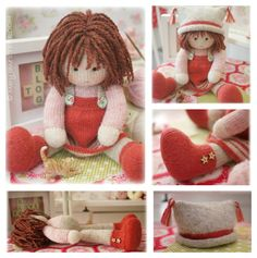 ChrystalA TEAROOM Doll ...made from beautiful Shetland Wool...creating a well - structured doll...