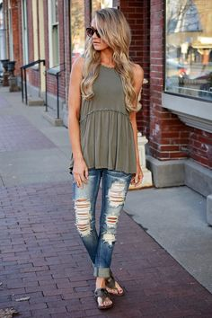 For the Frill of It ~ Olive – The Pulse Boutique