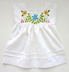 baby dress (pretty little things - Lori Marie) Toddler Girl Dresses, Little Girl Dresses, Girl Toddler, Baby Dresses, Kids Dress Wear, Dress Girl, Baby Girl Dress Patterns, Embroidery On Clothes, Frocks For Girls