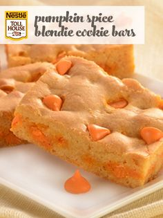 Pumpkin Spice Blondie Cookie Bars