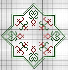 Christmas Biscornu Stack • 4/5 Chart for 2nd Size  [63st x 63st]