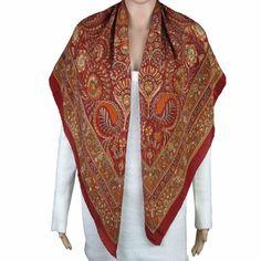 Cadeau d'anniversaire femme - Foulard en crêpe de soie 111 x 111 cm ShalinIndia, http://www.amazon.fr/gp/product/B008713TXO/ref=cm_sw_r_pi_alp_7Aoerb1D3T59P