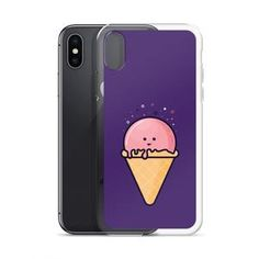 It has a solid back and flexible sides that make it easy to take on and off, with precisely aligned port openings.  #phone #phonecase #case #cases #iphonecase #iphonecases #icecream #icecreamdesign #graphics #illustration #shop #shoponline