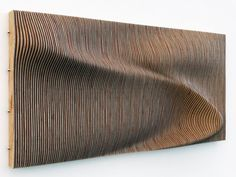 Risultati immagini per rippling wood facade Parametric Architecture, Parametric Design, Wooden Wall Art, Wooden Walls, Deco Design, Wood Design, Wood Sculpture, Wall Sculptures, Instalation Art