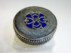 Blauer Kasachen Tribalring, 18 mm  von Melach auf DaWanda.com