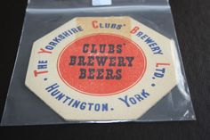 1961 Beermat Yorkshire Clubs Brewery Cat 003 (2H02 10/14)