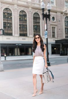 pencil skirt outfit for work asian fashion
