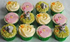Spring Cupcakes, Easter Cupcakes, Easter Cookies, Easter Treats, Easter Cake, Easter Eggs, Fondant Cupcake Toppers, Cupcake Cakes, Cupcake Ideas