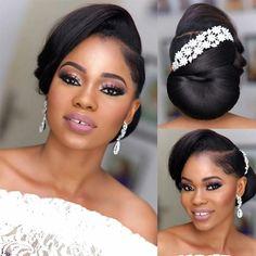 Bridal Updo With Veil, Bridal Hair Updo, Wedding Hair And Makeup, Bridal Makeup, Hair Makeup, Natural Wedding Hairstyles, Bride Hairstyles, Pretty Hairstyles, Natural Hair Wedding