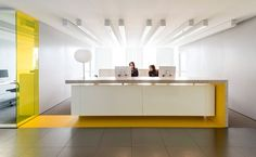 Office Designs Reception Industrial Design - commercial office interior o Corporate Office Design, Office Reception Design, Modern Reception Desk, Office Space Design, Corporate Interiors, Office Interior Design, Office Interiors, Home Interior, Interior Architecture