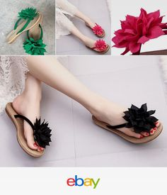 b95718ac0697aa Flops Flower Summer Shoes Sandals Flip Womens Plain 2017 Sliders Slippers  Flat Shoes Sandals
