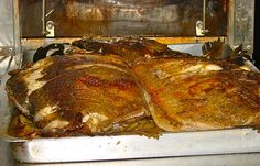 roasted tambaqui (Colossoma macropomum)
