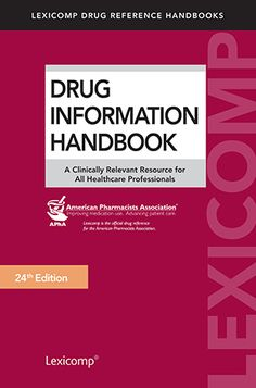 9 best book images on pinterest drug information handbook livros rh pinterest com Standards and Recommended Practices Industry Recommended Practices