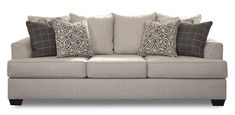 Vellitri 3 seater sofa in soft pewter includes back rest cushions and accent cushions Scatter Cushions, Throw Pillows, Fabric Squares, 3 Seater Sofa, Plaid Pattern, Pewter, Warehouse, Vintage Inspired, Love Seat