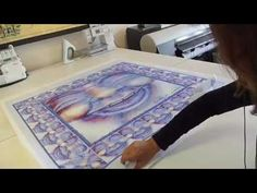 How to Print on Fabric - Digitally printed scarf on silk.