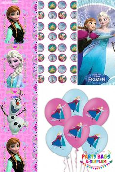Join Anna, Elsa, Olaf and Sven with our amazing Frozen Party supplies range, featuring Tableware, Pre Filled Party bags, Party Decorations and much more! So let it go and let us take the stress to make your party a success. To see the full range, click here - https://www.partybagsandsupplies.co.uk/themes/disney-frozen