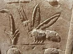 Ancient Egyptian bee relief. The ancient Egyptians are considered one of the first beekeepers in history.
