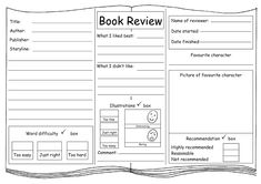 books ratings Summer Reading Lists, Guided Reading, Book Review Template, Writing A Book Review, Home Learning, Reading Activities, Book Title, Research Paper
