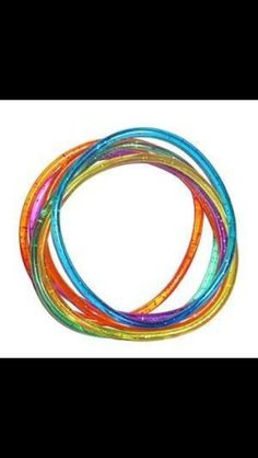 Jelly bands. I remember when these got banned at school lol and if you broke them each colour meant something