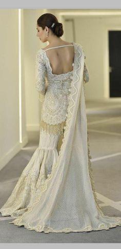 46 New Ideas Dress Formal Summer Spring Bridal Mehndi Dresses, Nikkah Dress, Pakistani Formal Dresses, Pakistani Outfits, Indian Dresses, Indian Outfits, Dress Formal, Pakistani Sharara, Pakistani Couture