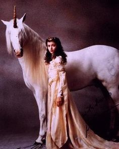 Legend (1985) - Mia Sara as Princess Lily and Tom Cruise as Jack. The costumes were designed by Charles Knode.