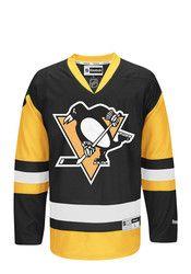 Pitt Penguins Mens Black Center Ice Premier Team Jersey