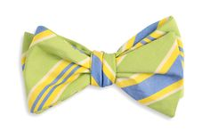 High Cotton | Lime Maybank Stripe Bow Tie