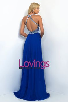 2016 A Line Prom Dresses Halter Beaded Bodice Open Back Sweep Train Chiffon & Tulle