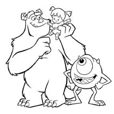 monsters inc the three companion in monsters inc coloring page the three companion in