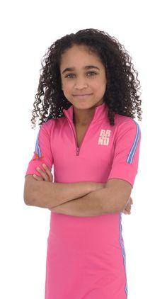Dress Polo stripe pink Br@nd for girls summer 2016 www.brandforgirls.nl