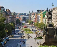 Wenceslas Square in Prague on a summer afternoon | The Ultimate 3-Day Itinerary for a Trip to Prague