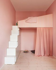 Welcome to the pink palace - a new kids' room project. Photography by 🐽🧠🐷 -